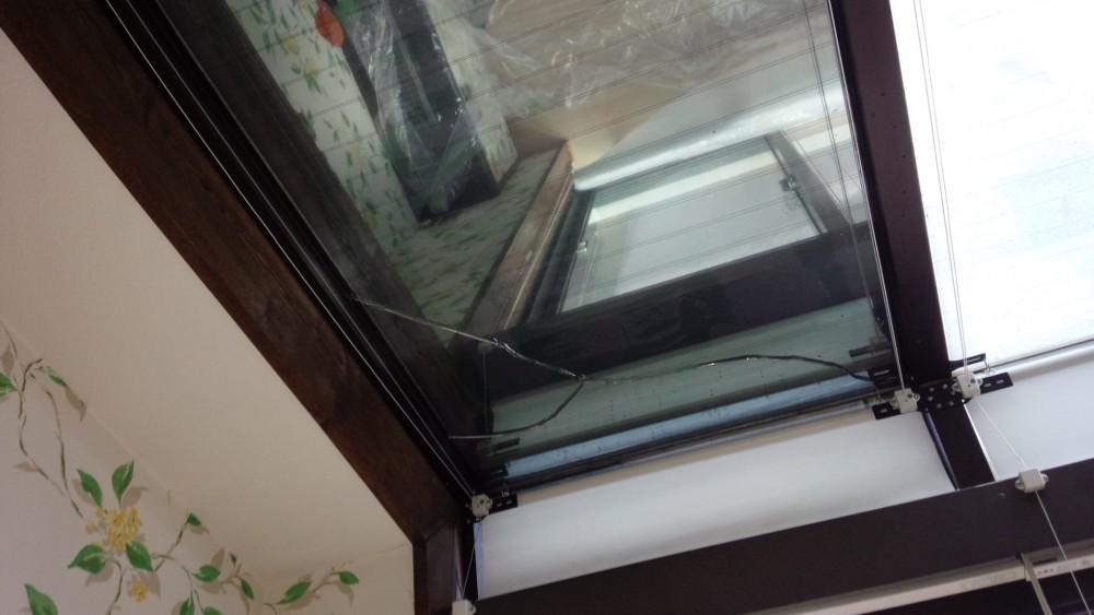 ガラス熱割れ補修