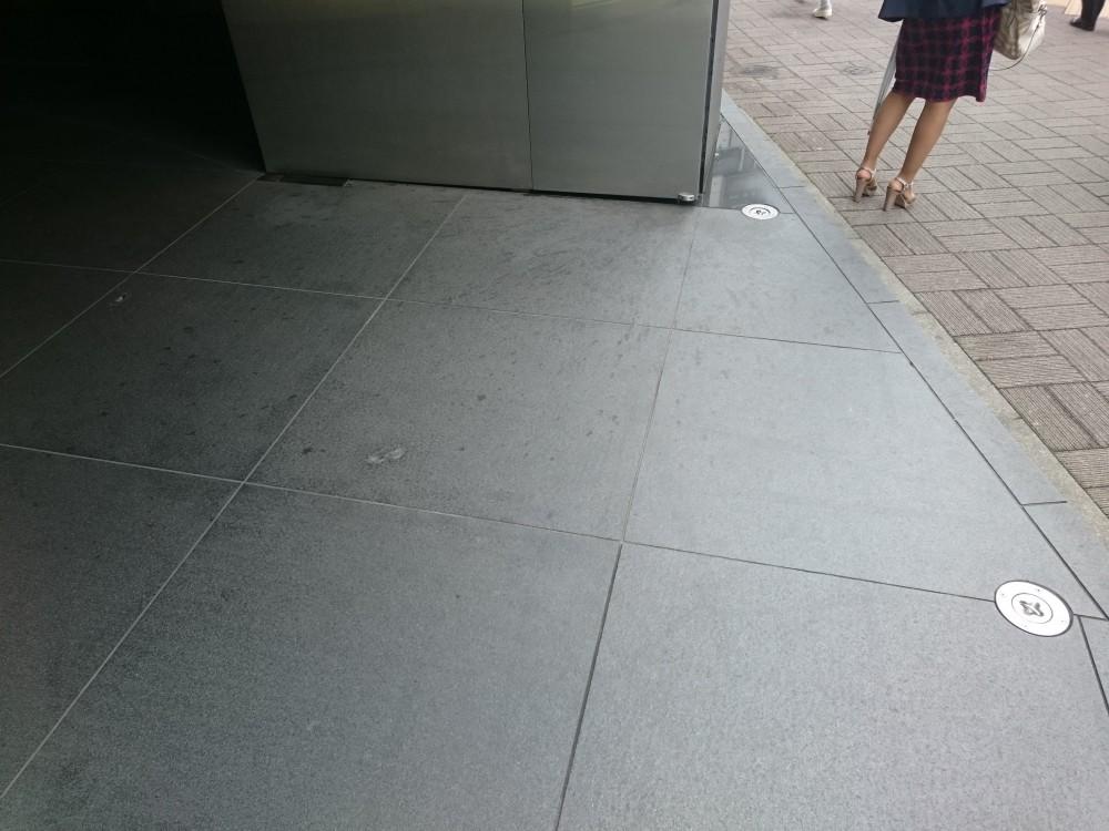 新宿区新宿 Tビル 御影石染み抜き作業