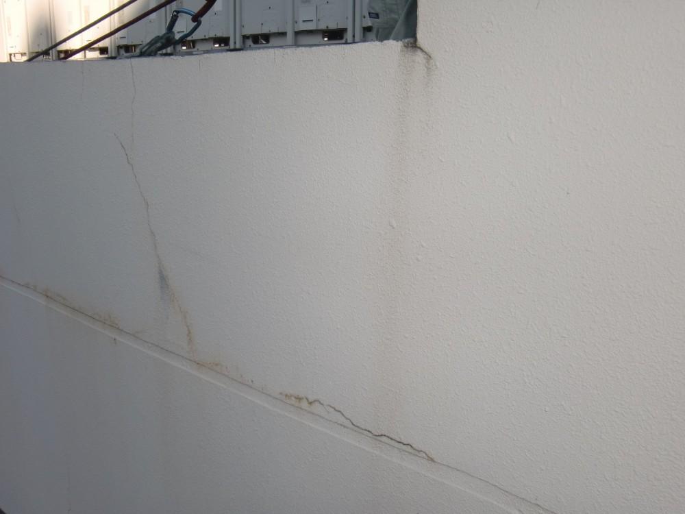壁面 亀裂 補修前